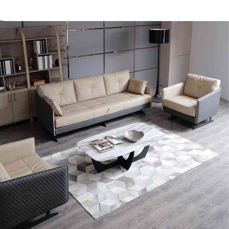 Executive Leather Sofa Couch Set