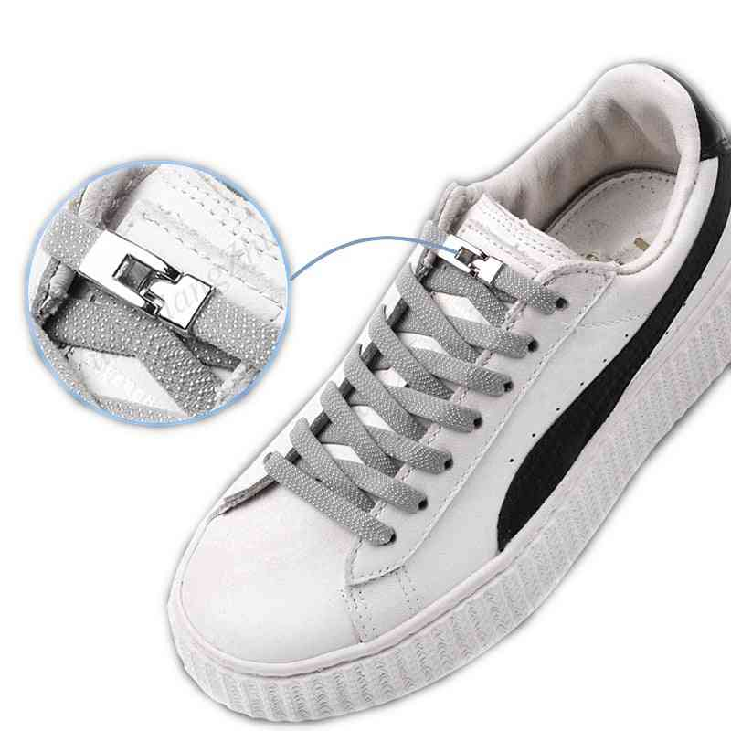 Quick No Tie Shoelaces, Elastic Cross Buckle, Kids, Adult, Unisex Sneakers, Lazy Laces Strings