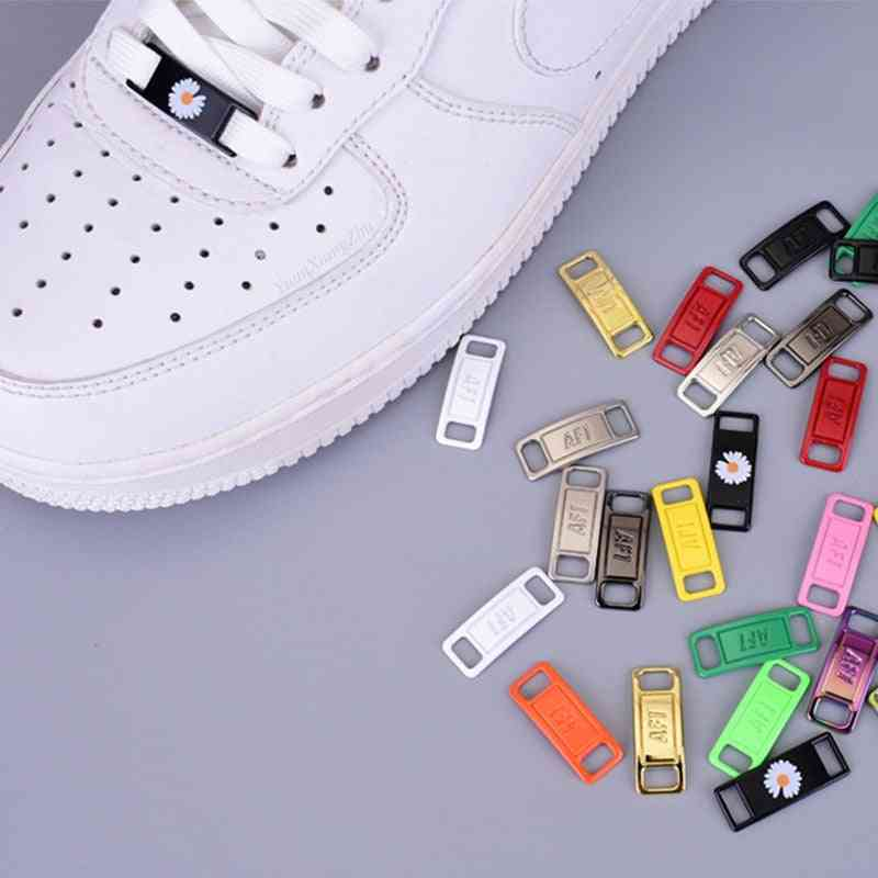 Metal Shoelaces Buckle Accessories, Lace Lock, Diy Sneaker Kits