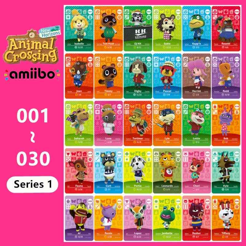 Animal 001~030 Nfc Card Tag Series 1 For Ns Switch 3ds Ntag215 New Horizons Hot Villager