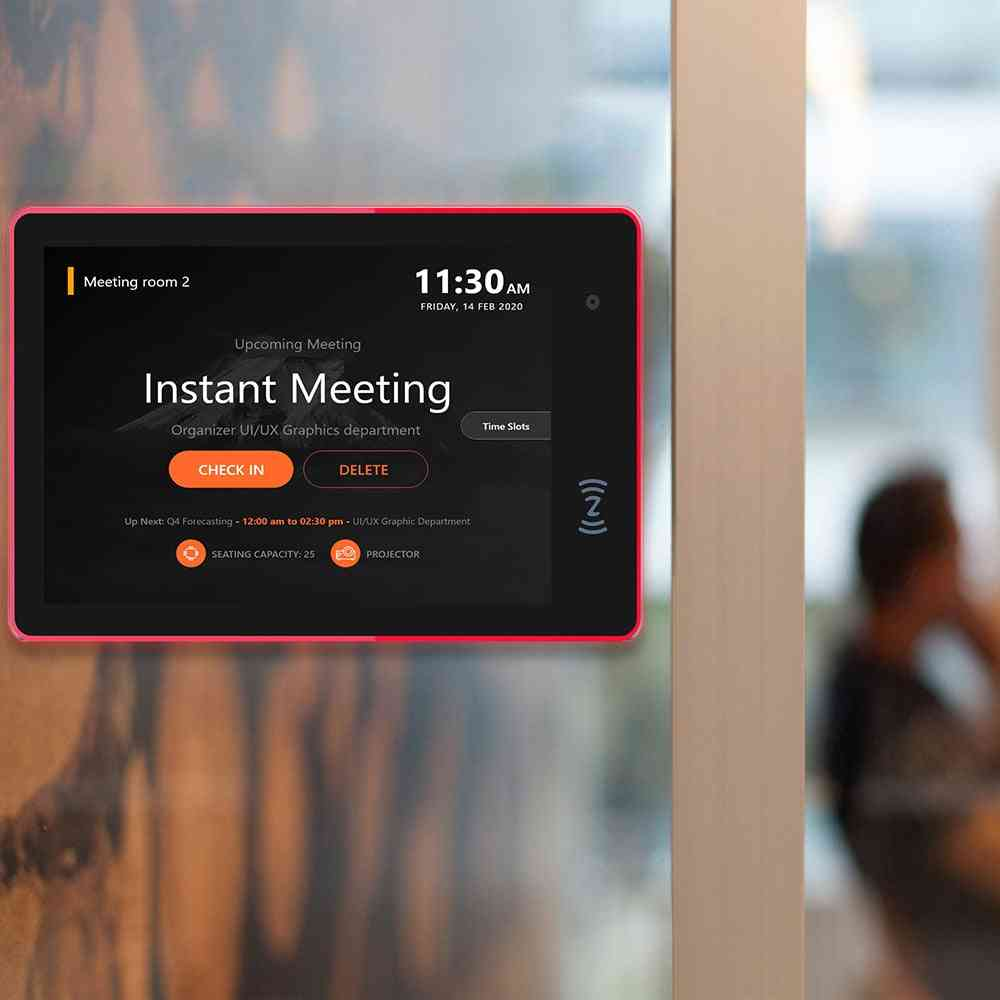 Conference Meeting Room Schedule Display Tablet, Pc Wall Mounted