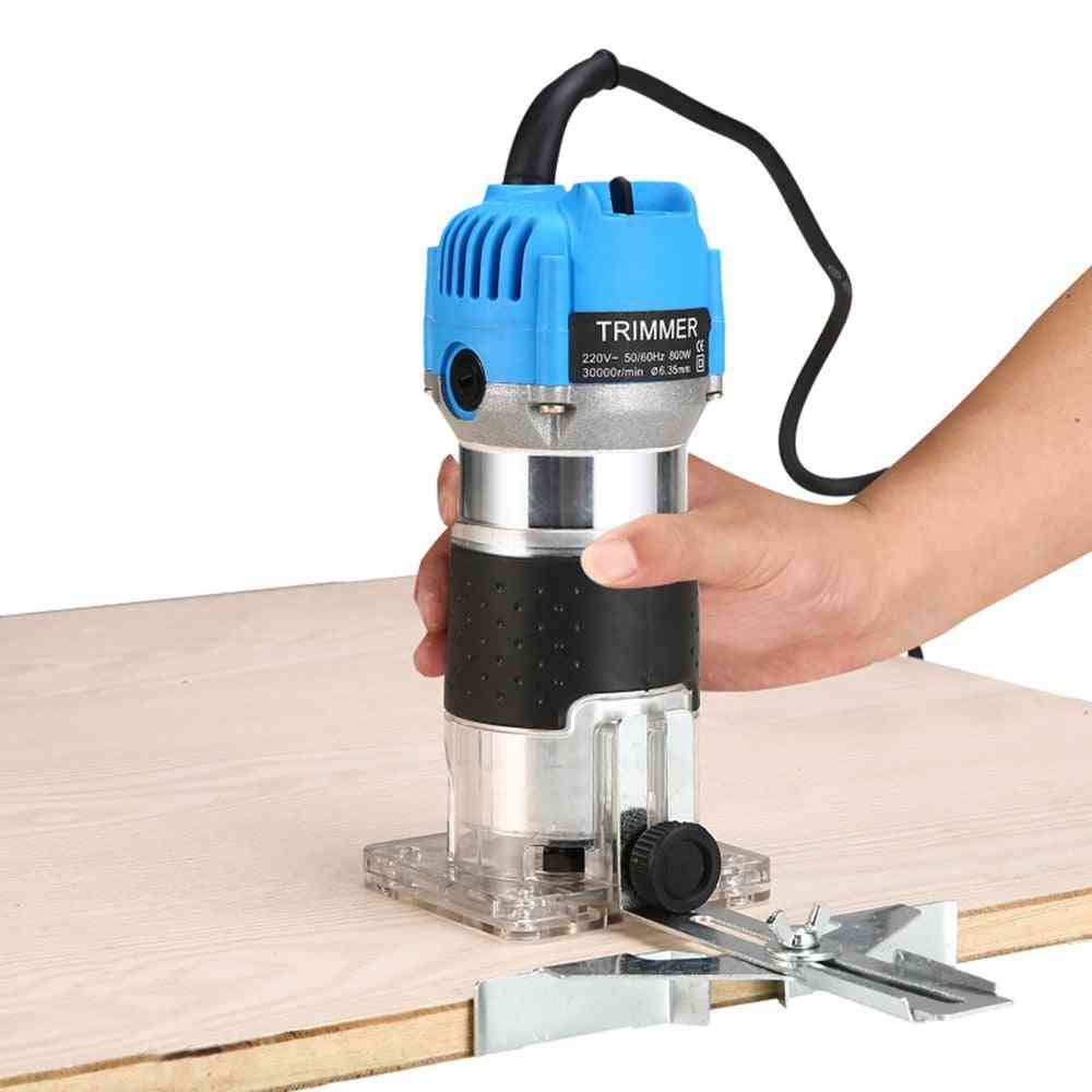 Woodworking Electric Trimmer, Wood Milling Engraving Slotting Trimming Machine, Hand Carving Router