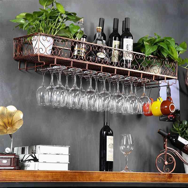 8700 Wine Glass Wall Hanging Upside Down Rack