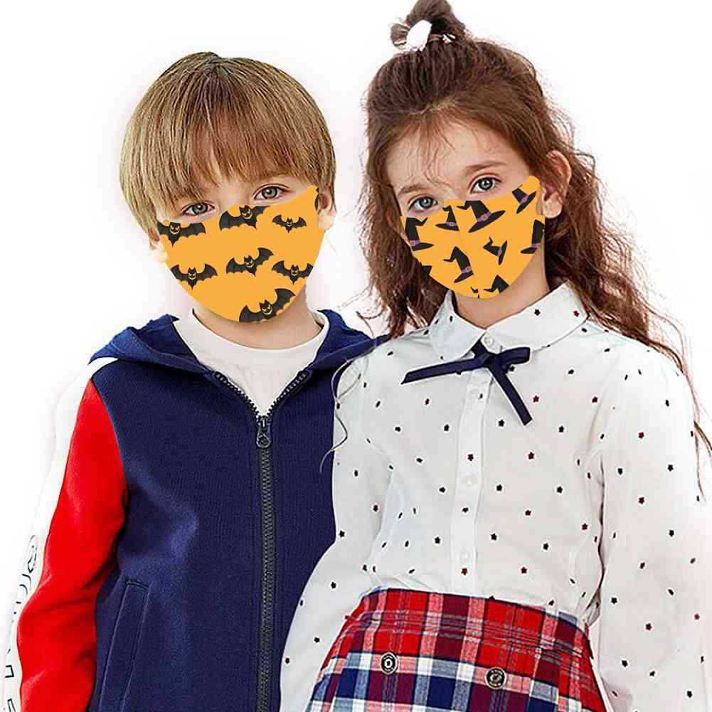 Halloween Digital Printing Ice Silk Washable Mask