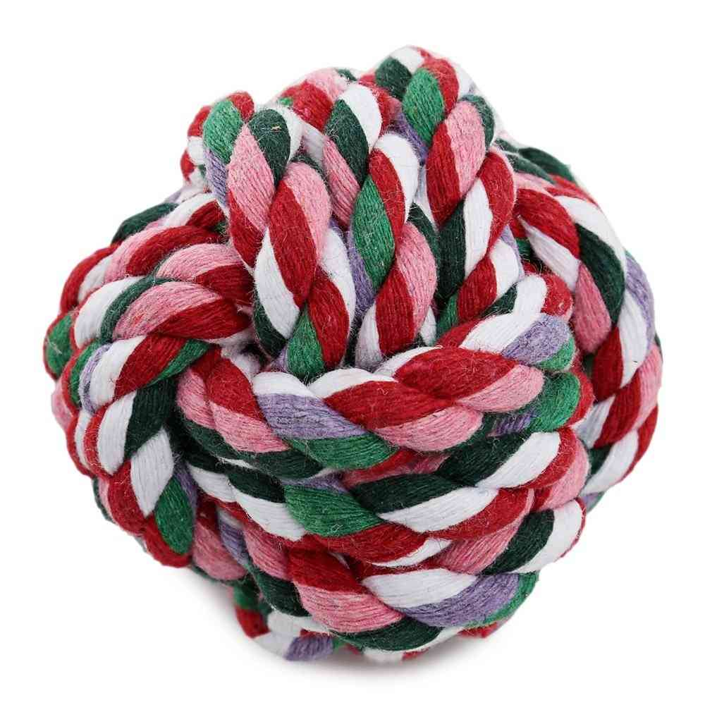 Weave Cotton Rope Knot Ball Dog Biting Toy