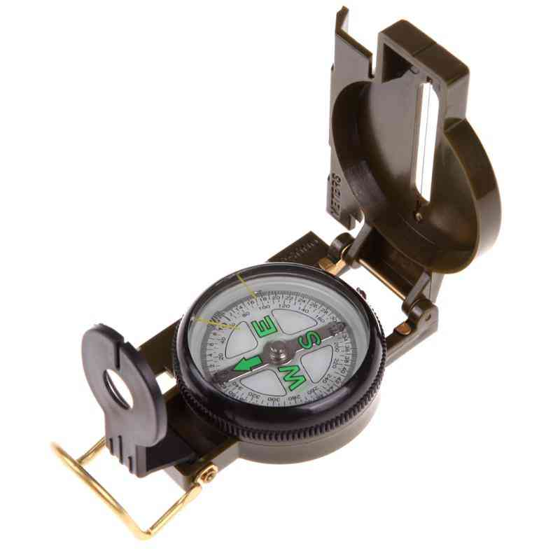 Portable Folding Army Lens Compass, Military Multi Function, Mini Outdoor Tool