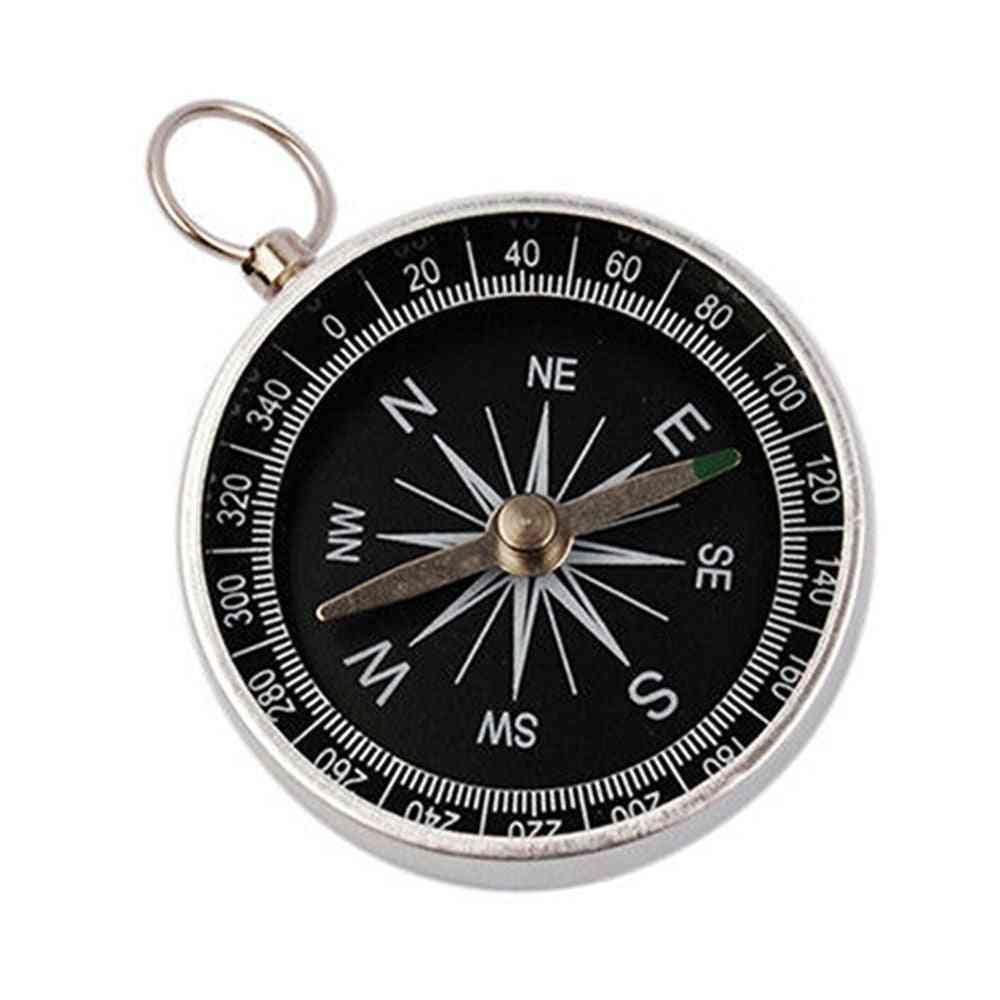 Hiking Lightweight Aluminum Wild Survival Compass, Navigation Tool, Pocket Outdoor Accessories, Portable