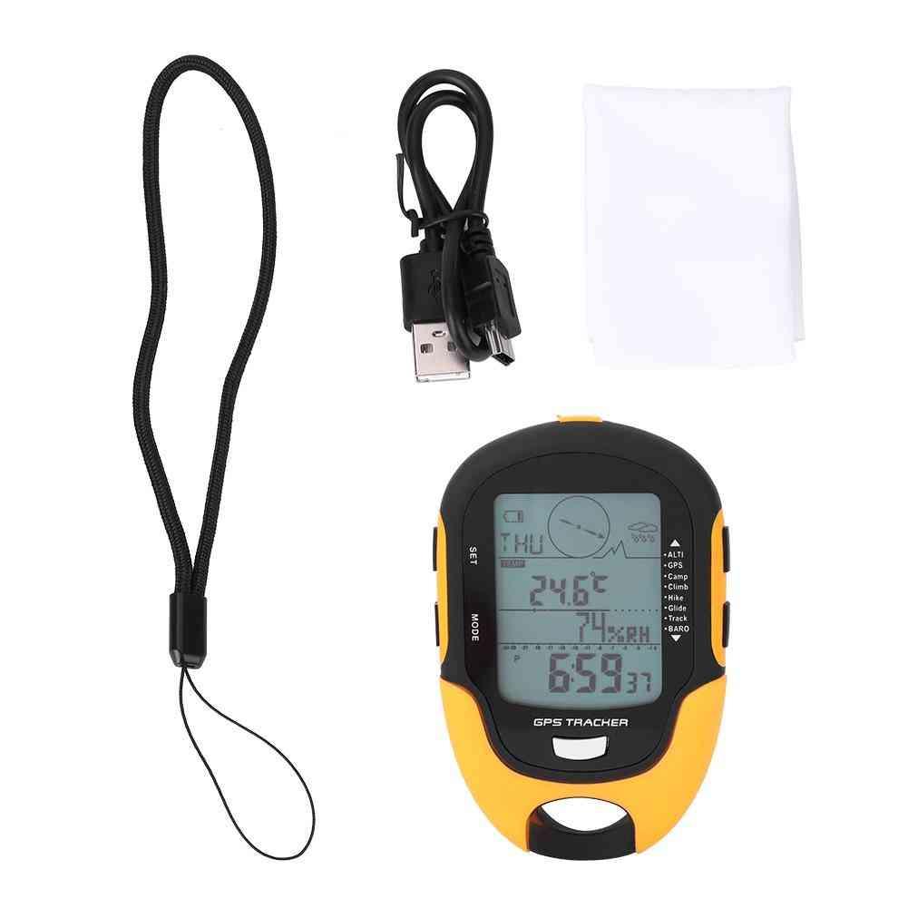 Waterproof Digital Altimeter Barometer Compass, Gps, Dual Navigation, Portable Torch, Outdoor Tools