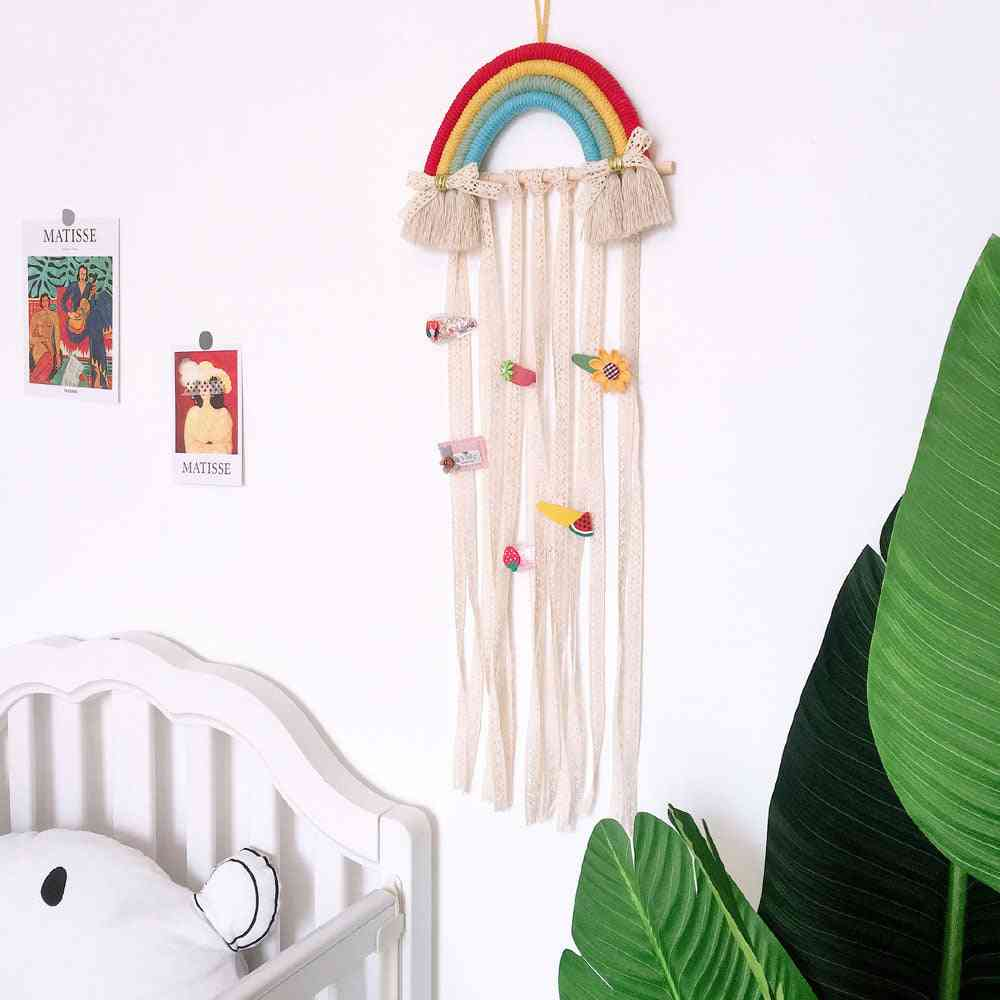 Rainbow Wall Hanging Hair Bows Storage Belt