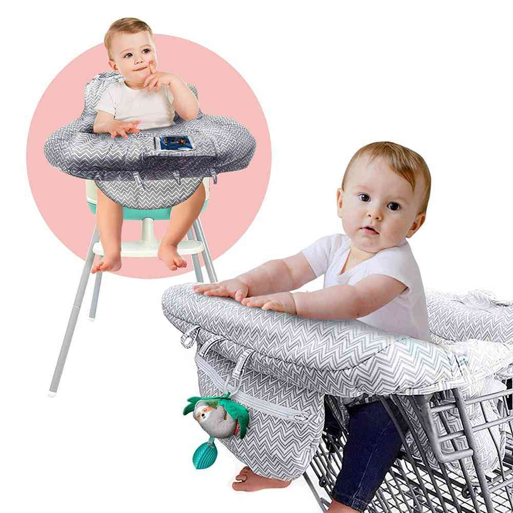 2in1 Baby Shopping Cart Cover With Cellphone Holder