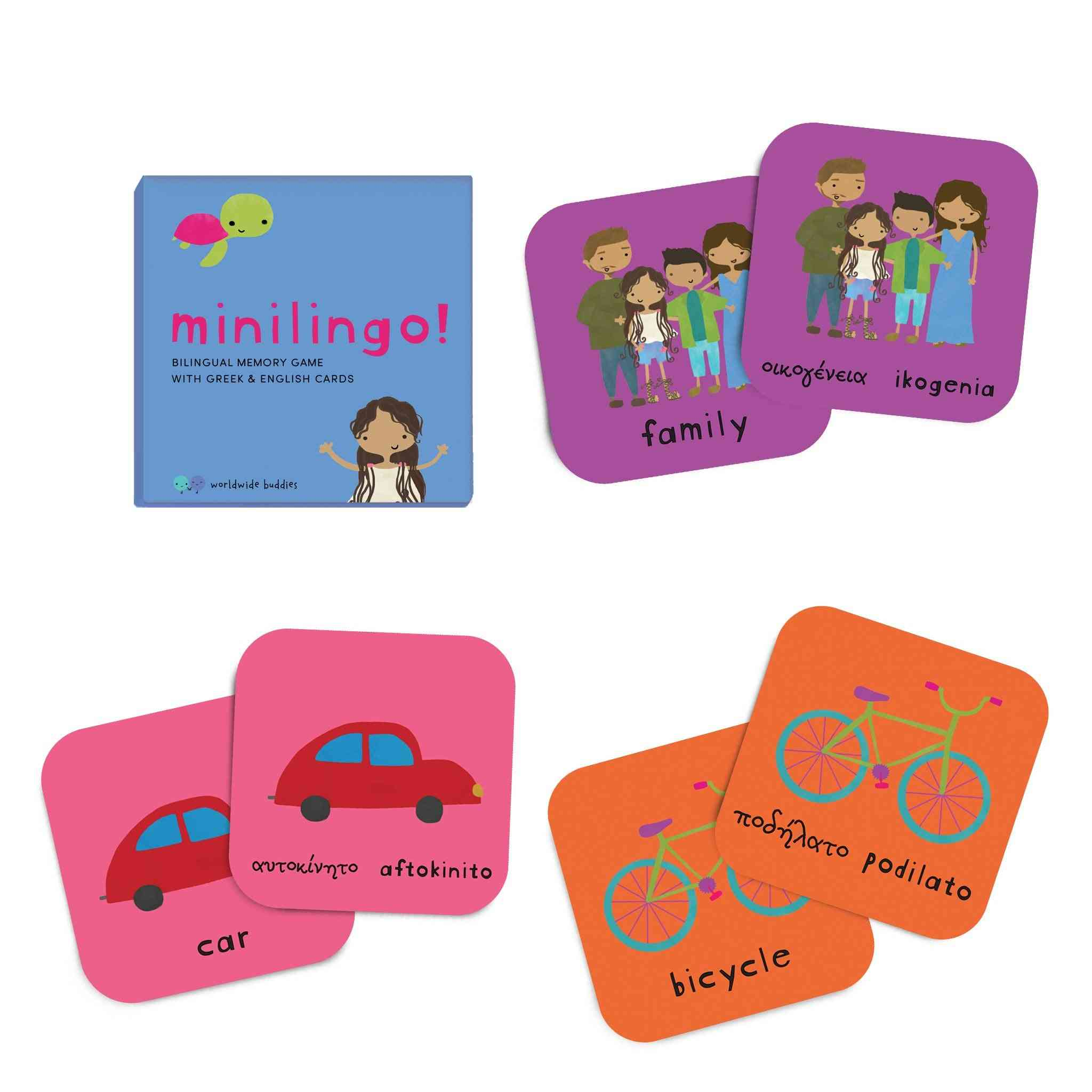 Minilingo, Greek/english Bilingual Cards