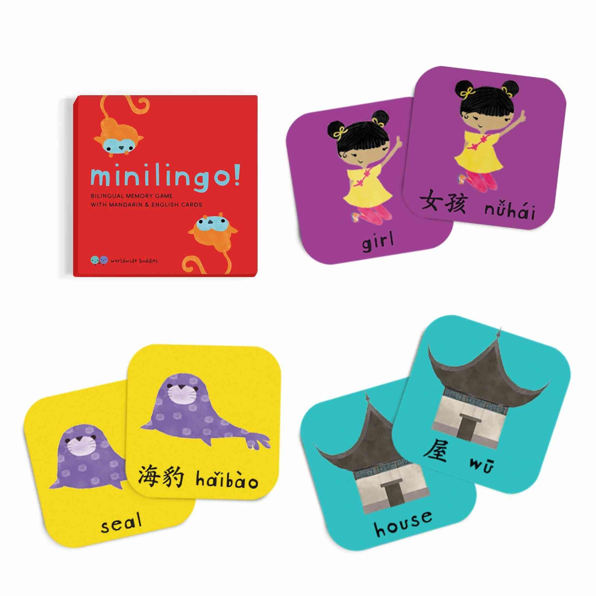 Minilingo, Mandarin/english Bilingual Cards