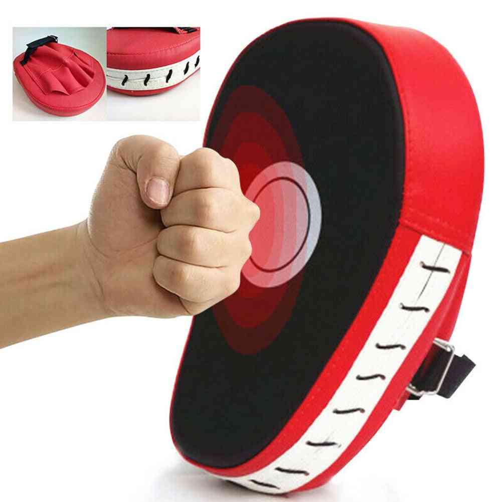 Curved Boxing Muay Thai Hand Target, Sanda Training, Thickened Earthquake-resistant, Curved Baffle, Pu Five-finger