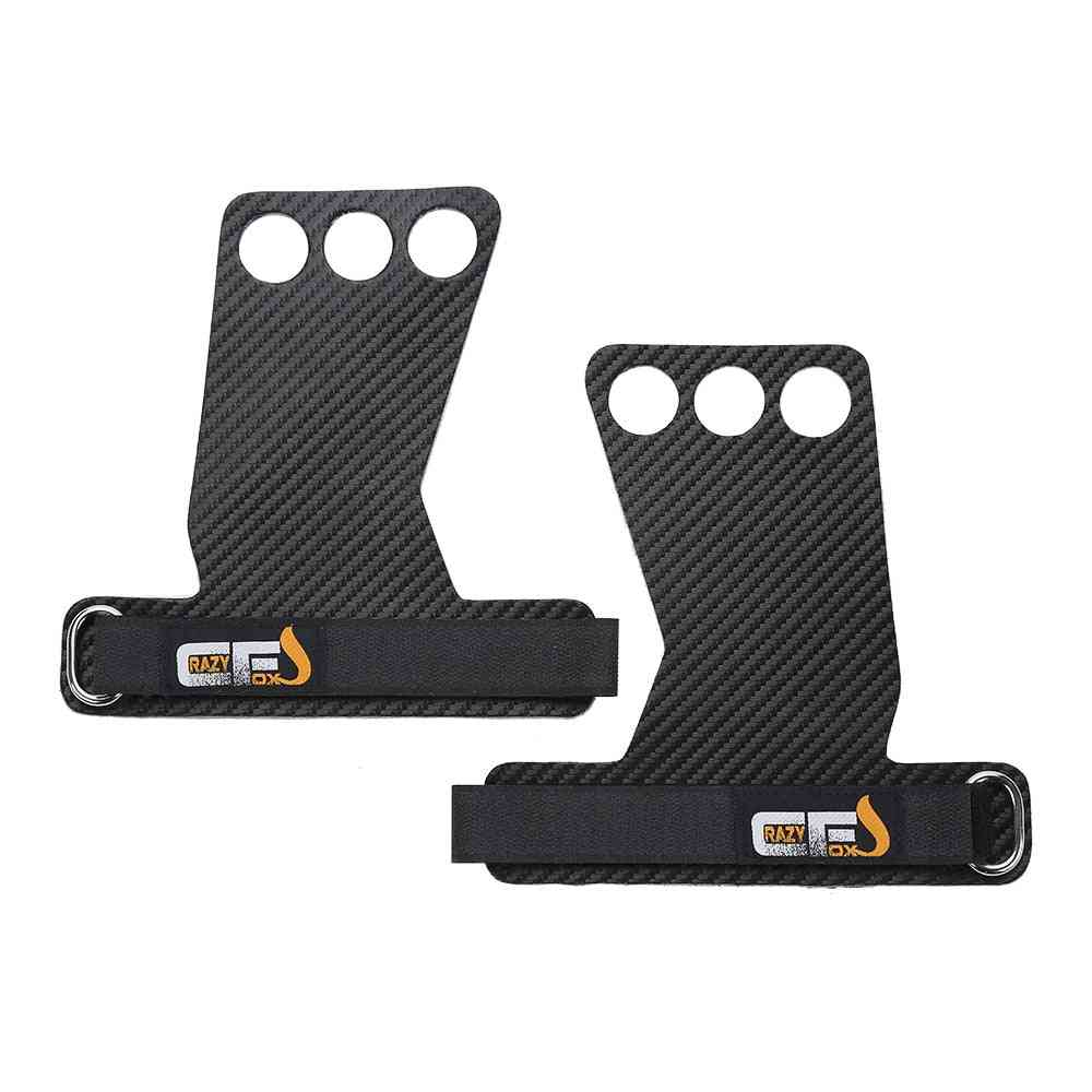 Carbon Gymnastics Hand Grips, Weightlifting Workout Gym Gloves, Palm Protection, Crossfit Grip