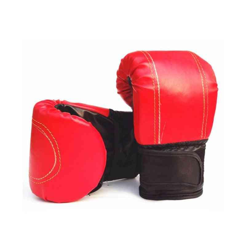 Adult Sanda Gloves, Pu, Skid-proof, Exposure Finger Boxing Sandbag Glove, Taekwondo Training