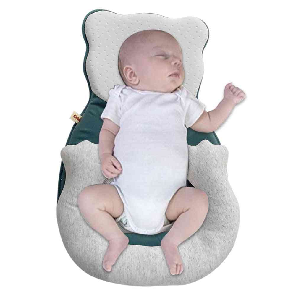 Cartoon Baby Head Shaping Pillow Portable Crib