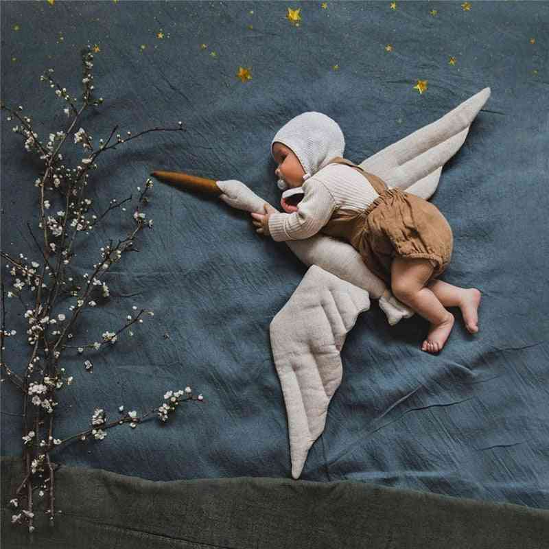 Linen Creative Swan,'s Room Decoration, Baby Playing With Pillow, Doll Souvenir Photo, Photograph Props