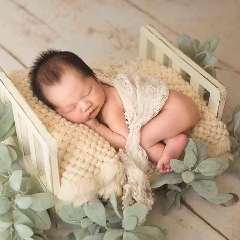 Newborn Props For Photography, Boy Wooden Detachable Vintage Bed, Infant Acessories