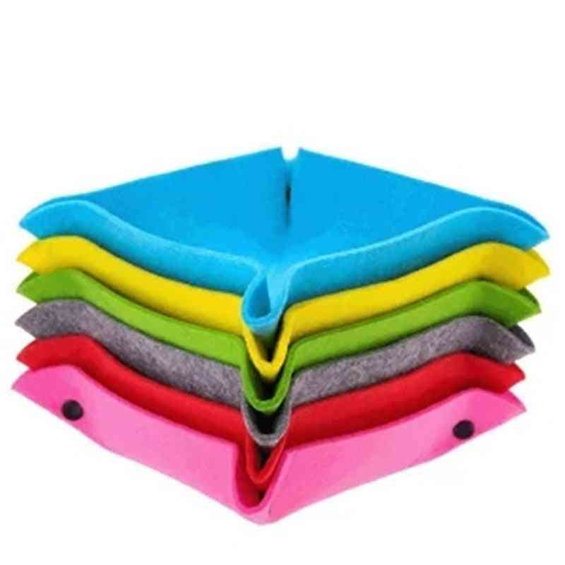 Fabric Felt Folding Square Dice Tray