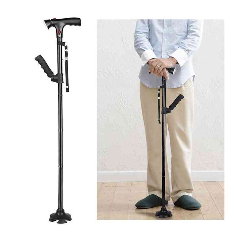 Collapsible Telescopic Cane, Folding Crutch, Led Walking Stick