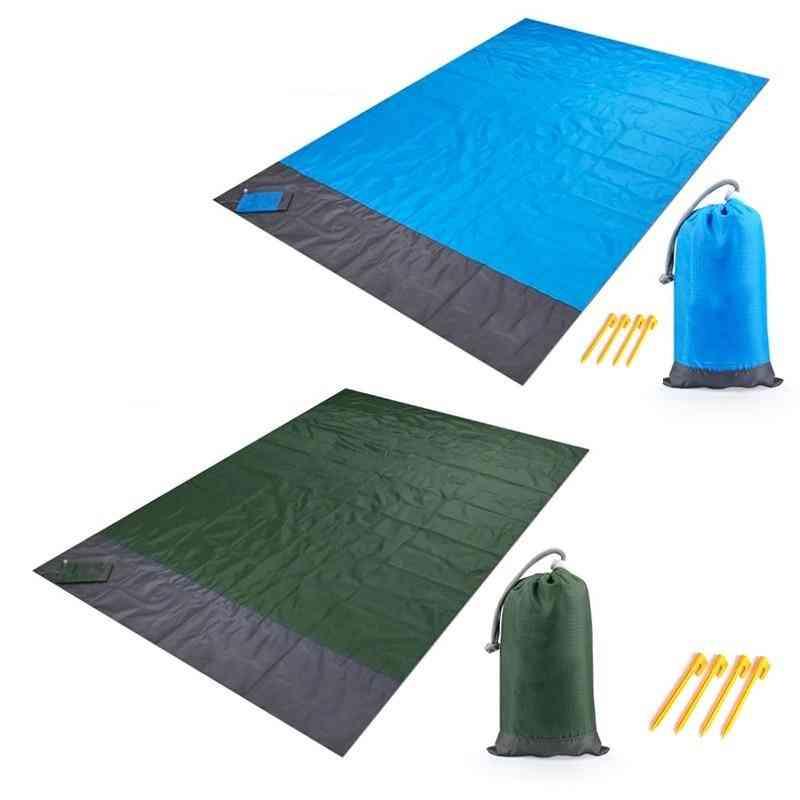 Waterproof Beach Blanket- Outdoor Ground Mat, Mattress Bed, Sleeping Pad