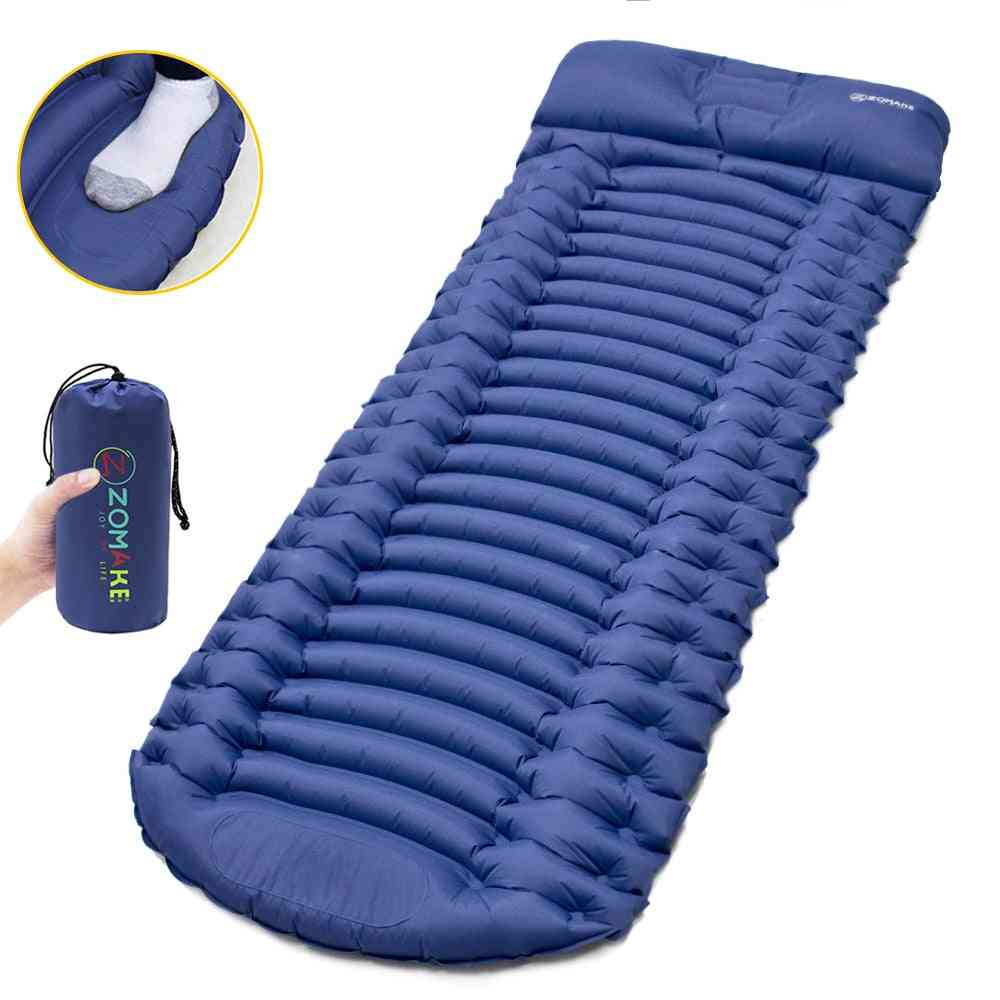 Foot Pressing, Sponge Air, Camping Mattress For Outdoor Sleeping Pad With Tpu