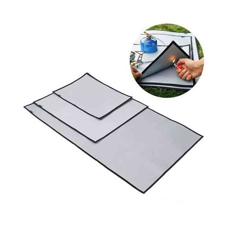 Fireproof Grill, Mat Cloth, Flame Retardant Ember, Blanket Heat Insulation Pad For Outdoors