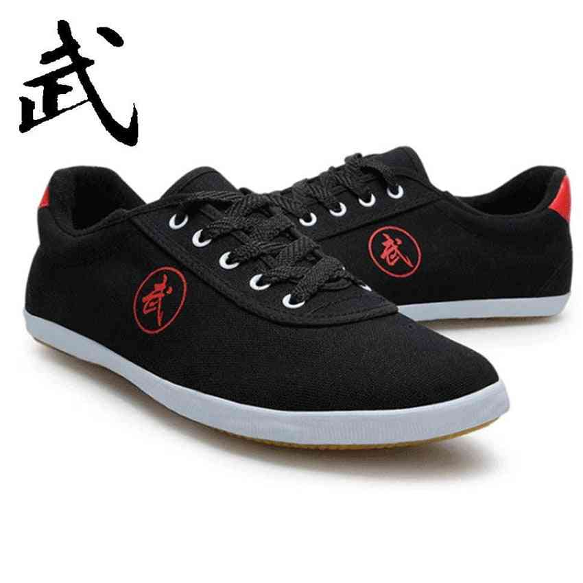 Martial Arts Shoes Chinese Old Beijing Kung Fu Shoes Kung Fu Tai Chi Wushu Park Square Sneakers With Rubber Soles