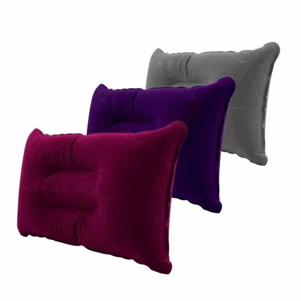 Portable Air Pillows With Double-sided Flocking, Cushion Sleep For Outdoor Camping