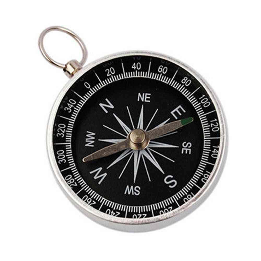 Mini Pocket Aluminum, Wild Survival Compass, Navigation Tool
