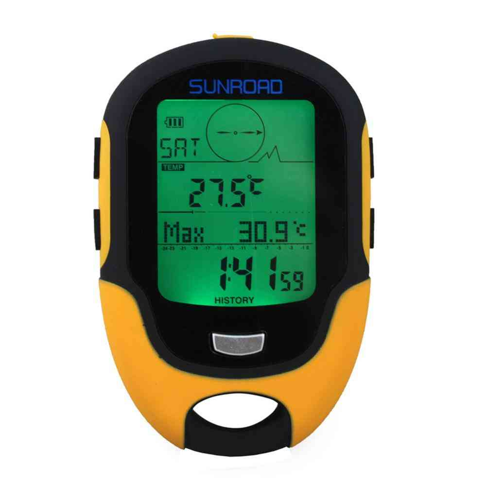 Fr500- Thermometer Weather Forecast, Led Torch, Lcd Digital Altimeter, Compass