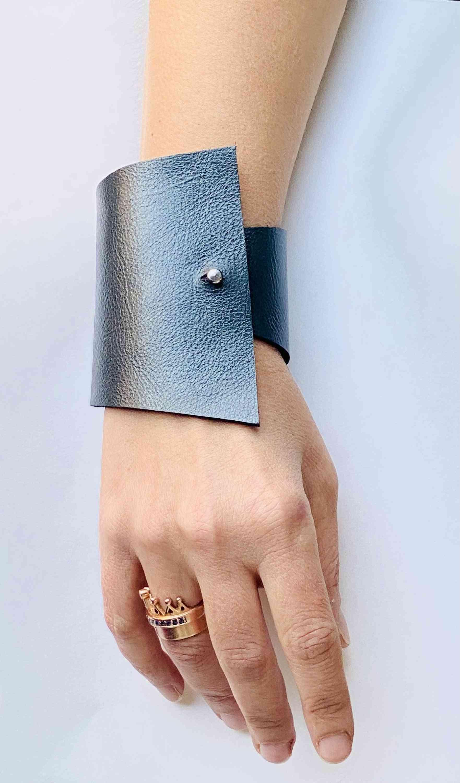 Envy- Emerald Green Handcrafted Italian Leather Bracelet