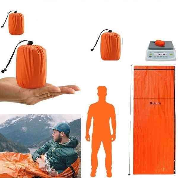 Waterproof Thermal, Sleeping Bag- Sack Survival Blanket, Tent Emergency Kit