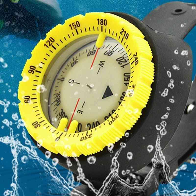 Underwater Diving Compass, Professional Waterproof Navigator, Digital Luminous Balanced Watch For Swimming