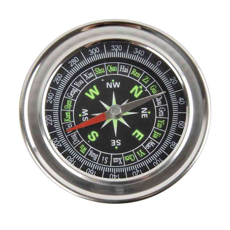 Metal Stainless Steel Large Compass, Portable, Navigation Outdoor Activities