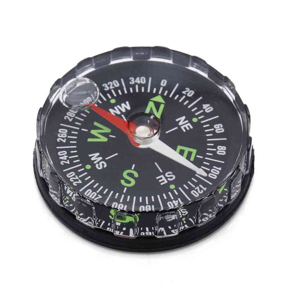 Pocket Survival Button Design Compass, Derection For Climbing, Hiking, Camping Outdoor Sport