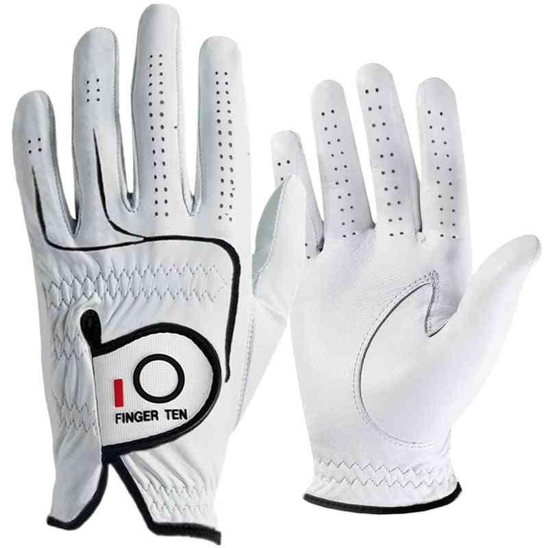 Soft Leather Men's Golf Gloves