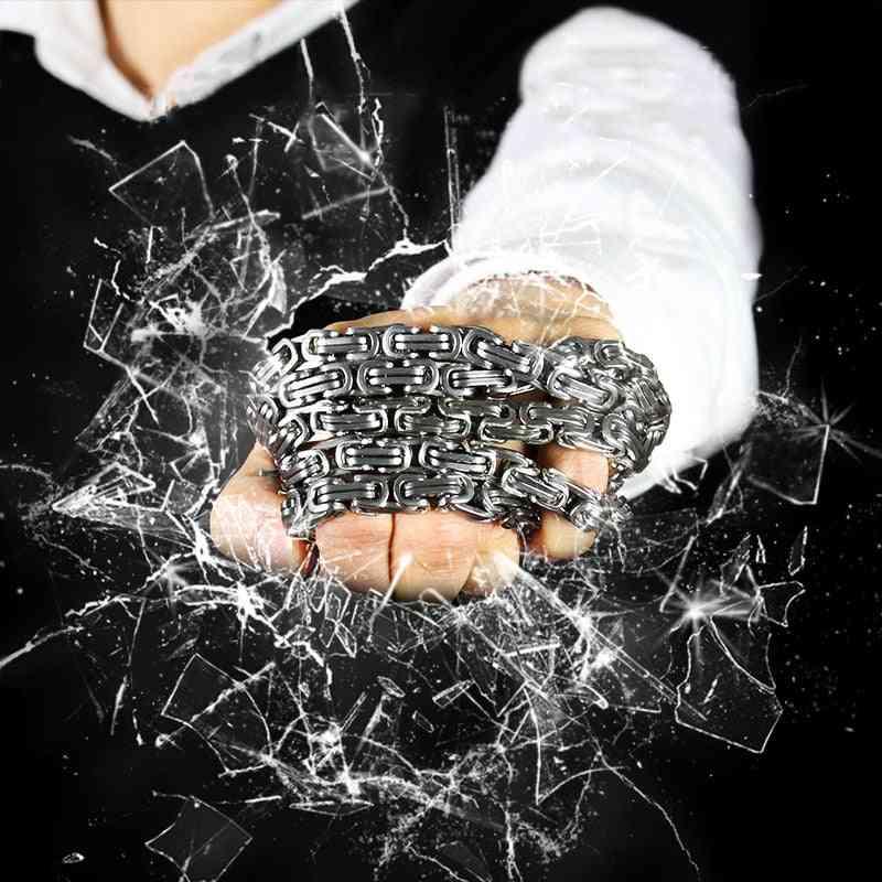 Self-defense Bracelet Whip, Edc Portable, Titanium Steel Vehicle/outdoor Equipment