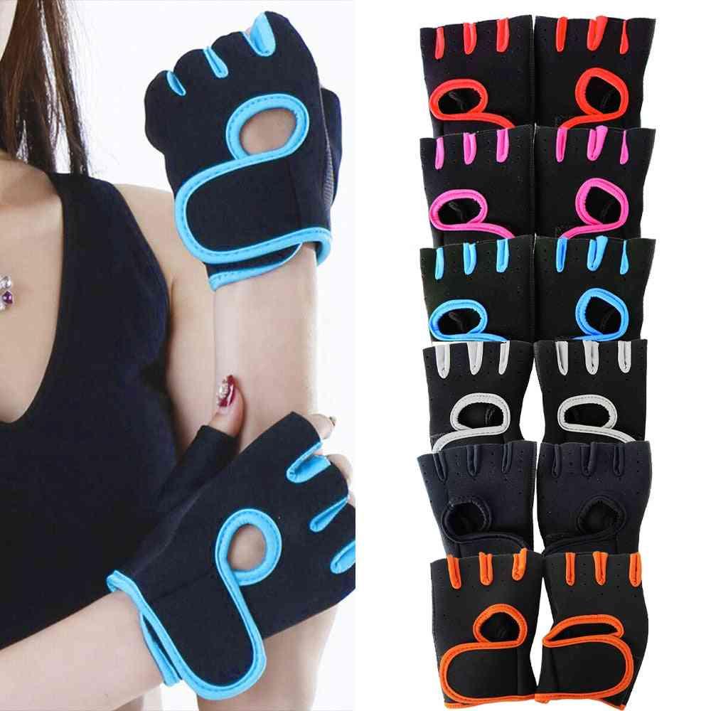 Men, Women Gym Half Finger Fitness Exercise Training Wrist Gloves, Anti-slip, Resistance Weightlifting
