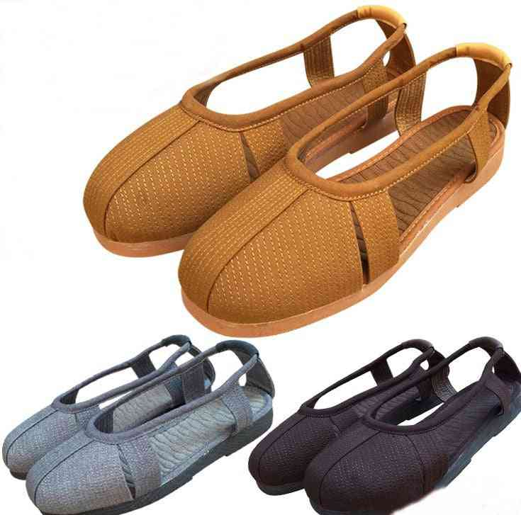 Unisex Summer Shaolin Monk Kung Fu Shoes - Buddhist Lay Meditation Sandals