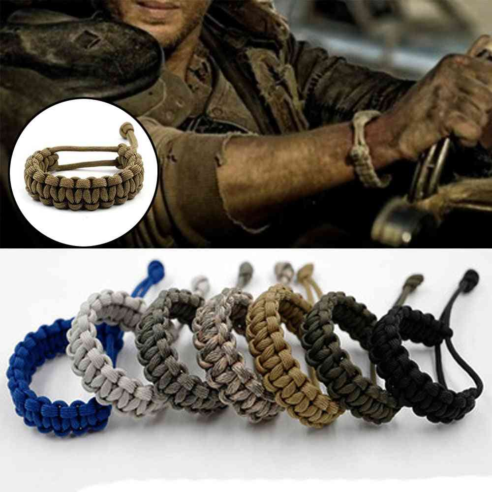 Adjustable Survival Bracelet, Weaving Cord For Camping Outdoor Accessories