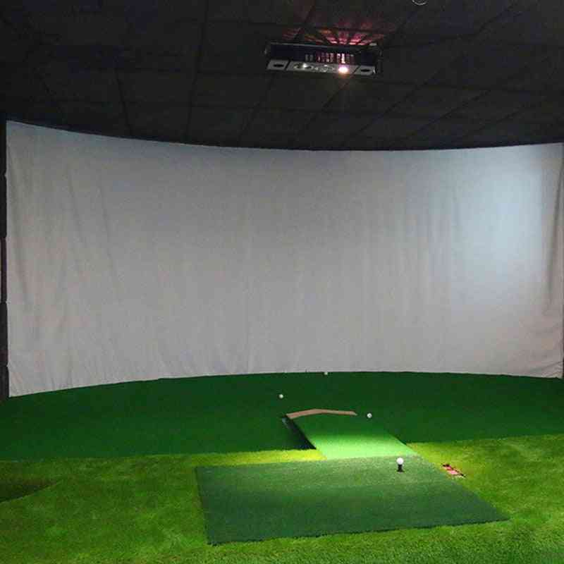Indoor Training Impact Projection Screen, White Cloth For Golf