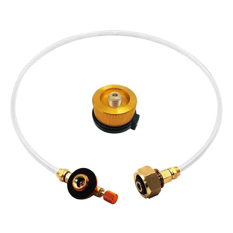 Outdoor Camping Gas Stove, Propane Refill Adapter Tank, Coupler Charging Accessories