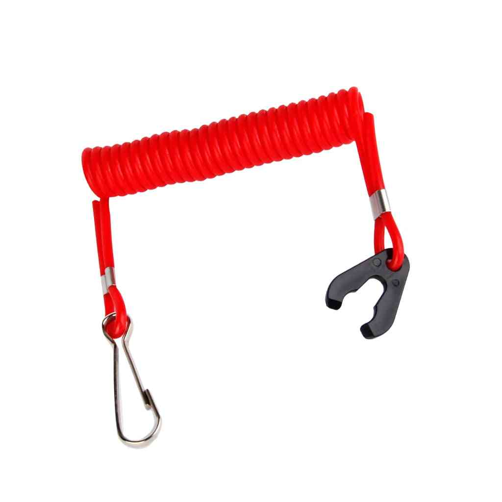 Red Plastic Safety Guard Boat Motor Outboard Kill Switch Key