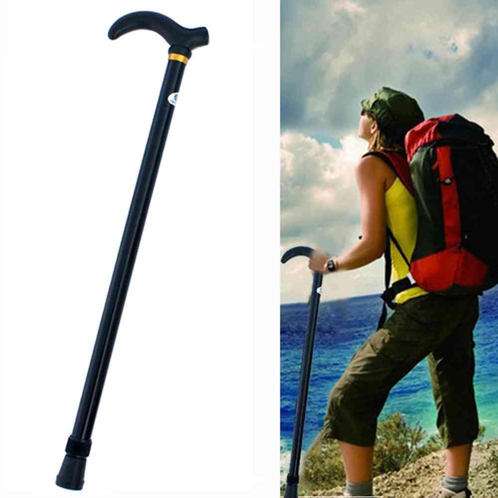 Retractable Anti Shock Walking Sticks, Telescopic Trekking, Hiking Poles, Ultralight Sports, Camping Mountaineering Crutch