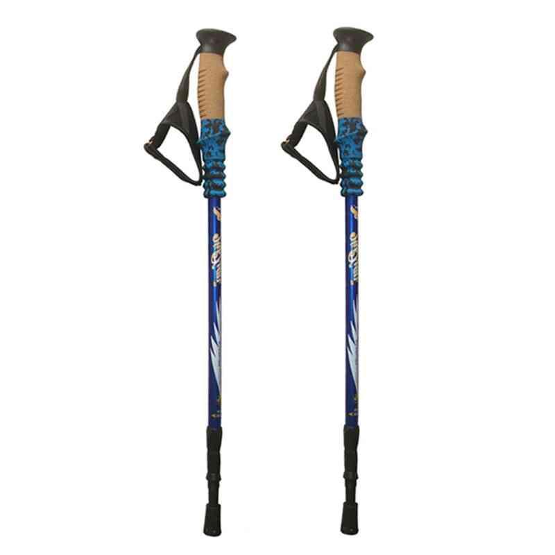Lightweight Nordic Walking Sticks, Anti Shock Trekking, Hiking, Climbing Poles, Adjustable Scandinavian Walking Canes