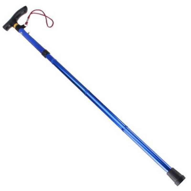 Easy Folding Walking Stick, Adjustable, Aluminum Alloy Trekking, Mountaineering, Hiking Telescopic Baton