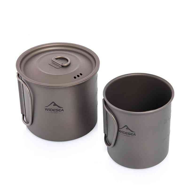 Titanium Mug, Cup Tableware Utensils- Outdoor Kitchen, Cooking Set