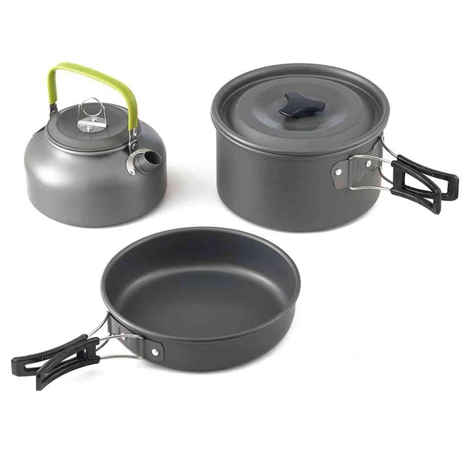 Aluminum Alloy- Cooking Teapot, Tableware Kettle, Pot, Frying Pan Set