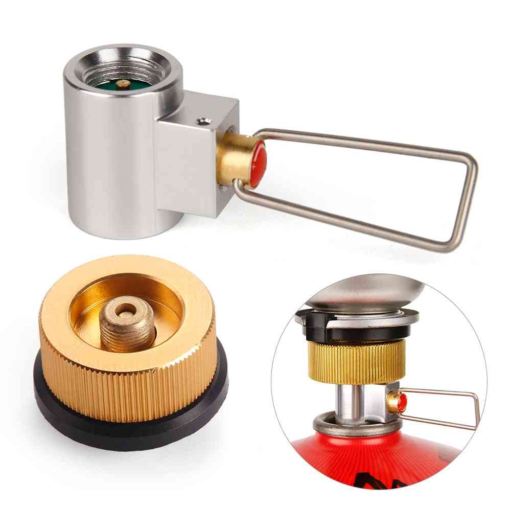 Stove Refill Adapter, Flat Valve Canister, Gas Convertor, Shifter Cylinder